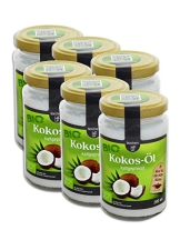 6 x Bio Kokosöl nativ 200ml. - 1